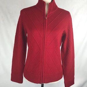 Jones New York Signature Petites Zip Sweater PM